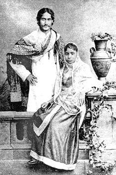 Rabindranath Tagore with Mrinalini  Devi