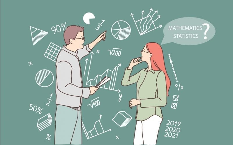 What is the difference between Mathematics and Statistics
