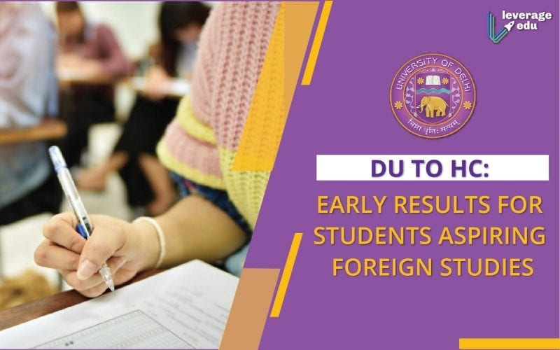 Early Result for Students Planning to Study Abroad