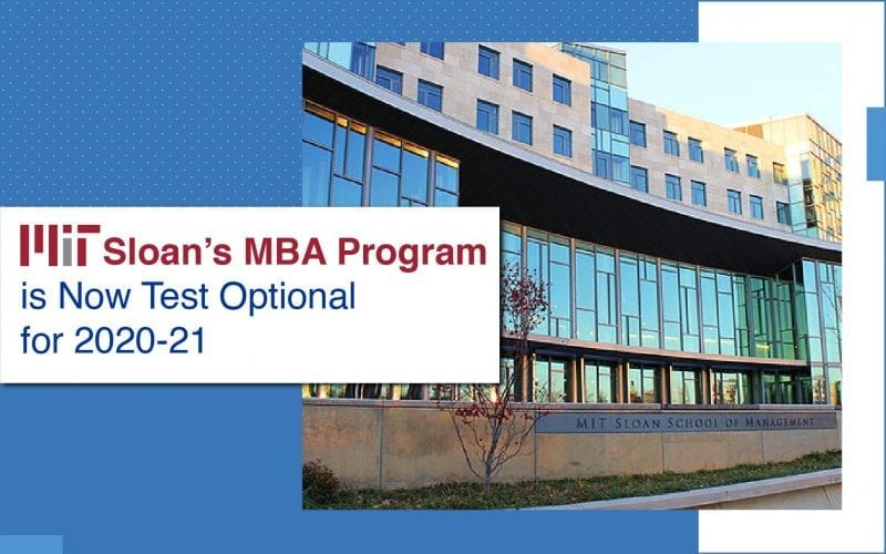 MIT Sloan's MBA Goes Test Optional