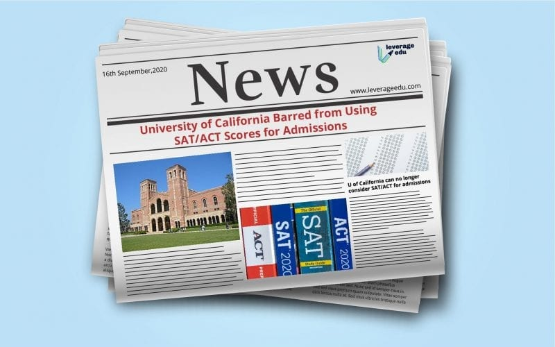University of California Barred from Using SAT/ACT Scores