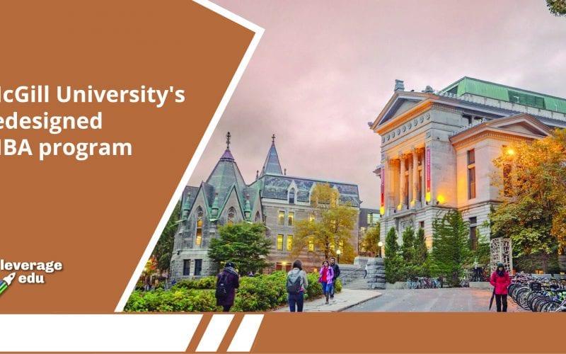 McGill University's redesigned MBA