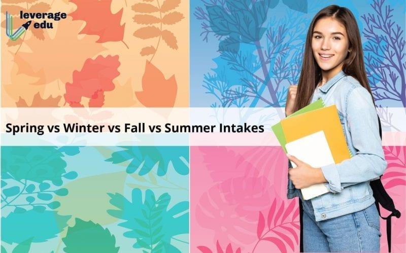 Spring vs Winter vs Fall vs Summer Intakes