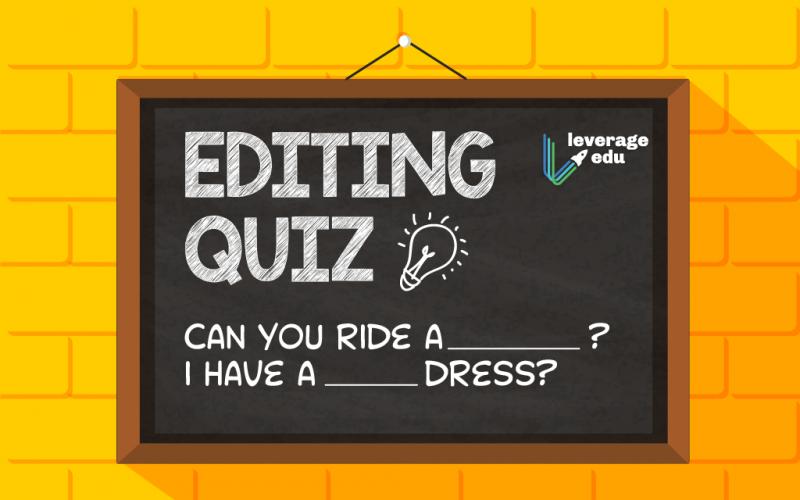 Editing Quiz