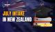 July Intake in New Zealand