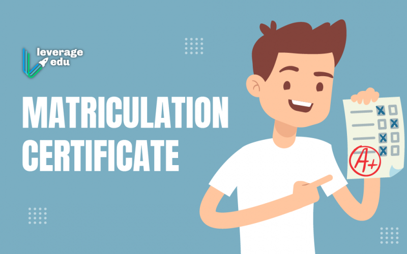 Matriculation Certificate