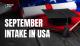 September Intake in USA