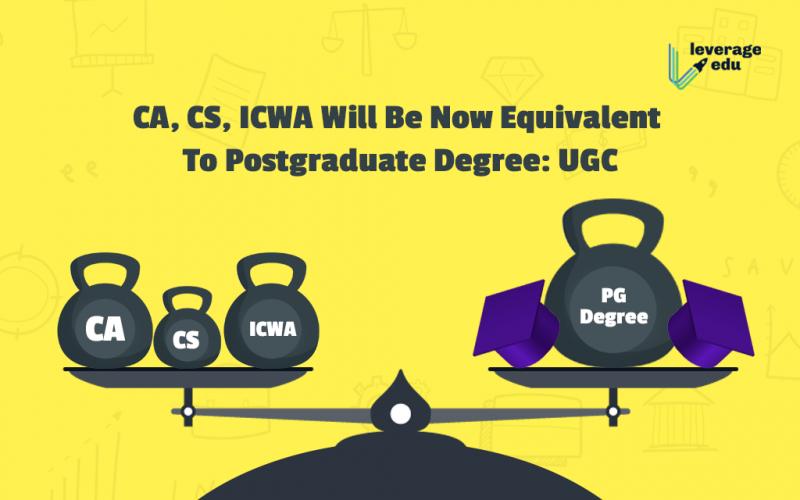 CA CS ICWA Now Equivalent To Postgraduate Degree