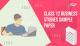 Class 12 Business Studies Sample Paper