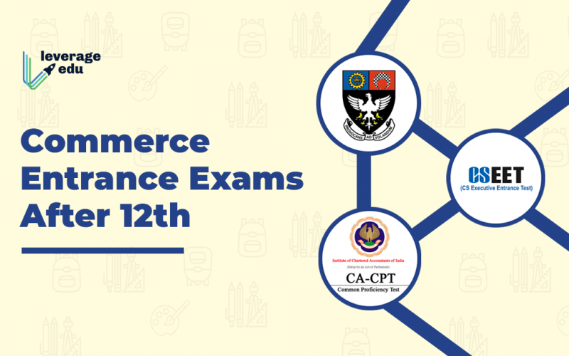 Commerce Entrance Exams after 12th
