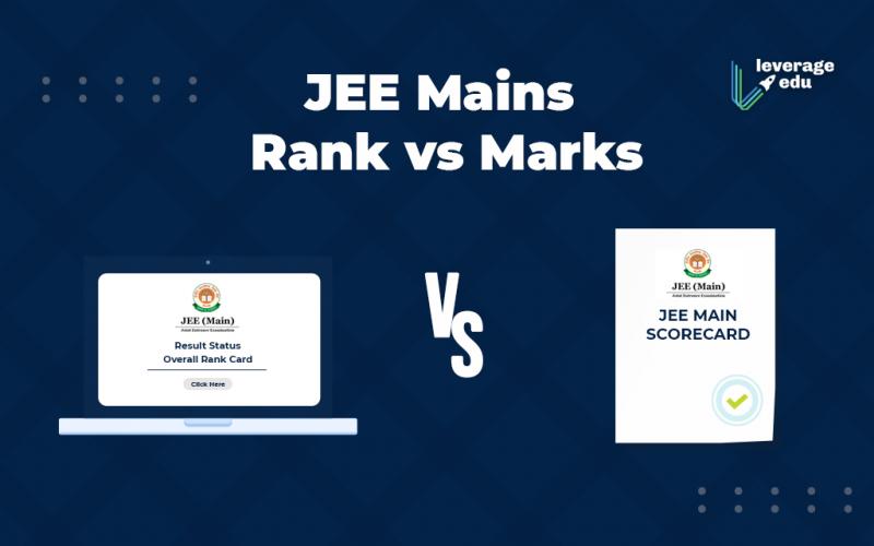 JEE Mains Rank vs Marks
