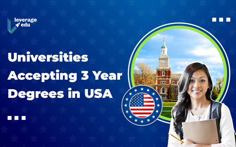 Universities Accepting 3-year Degrees in USA