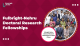 Fulbright Nehru Doctoral Research Fellowship