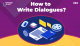 How to Write Dialogues