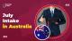 July Intake in Australia
