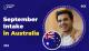 September Intake in Australia
