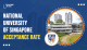 National University of Singapore Acceptance Rate