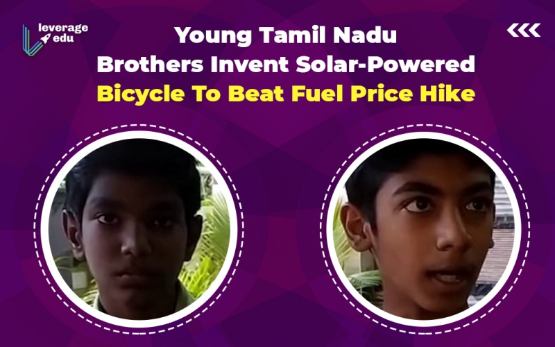 Young Tamil Nadu Brothers Invent Solar-Powered Bicycle To Beat Fuel Price Hike