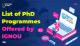 PhD in IGNOU