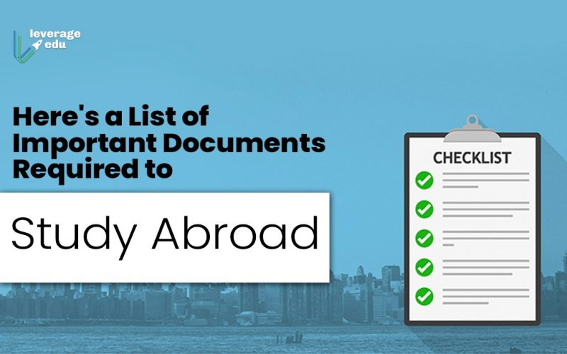 Here's a List of Important Documents Required to Study Abroad