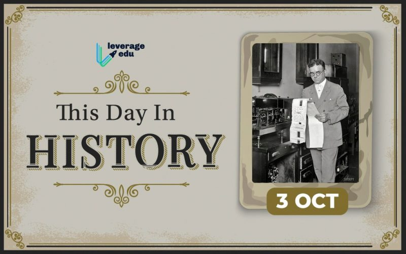 This Day in History- October 3