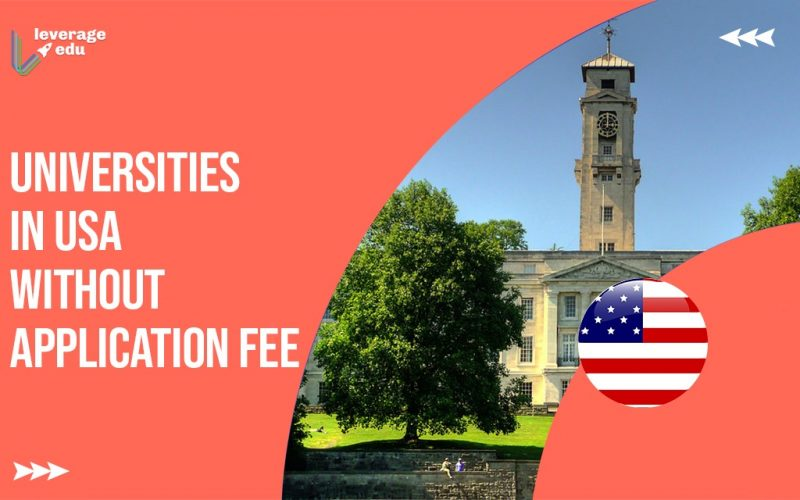 Universities in USA without Application Fee